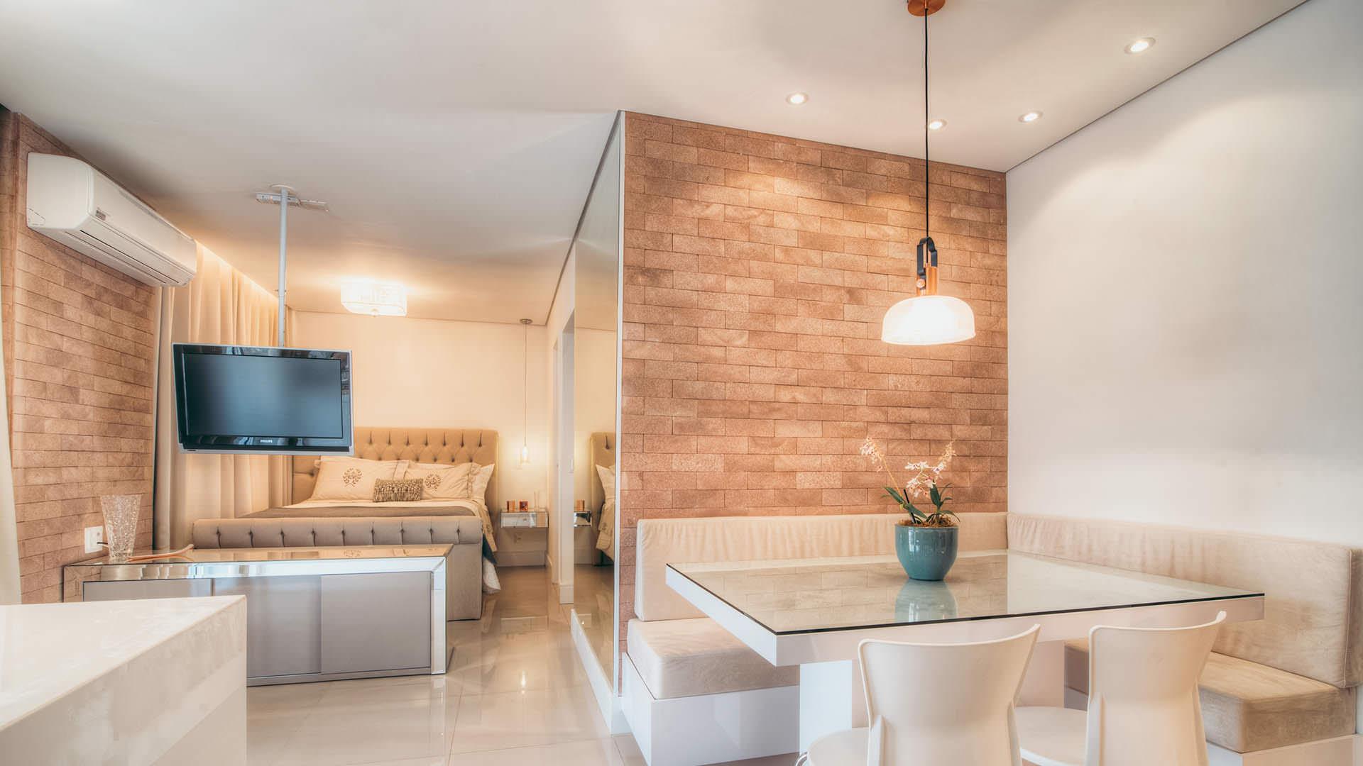 apartamento pequeno com móveis planejados
