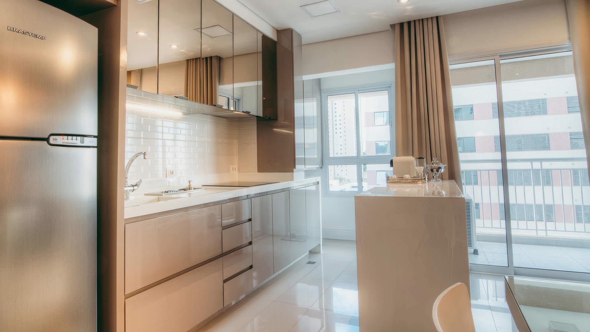 Cozinha E Balc O M Veis Planejados Pequeno Apartamento Espa O