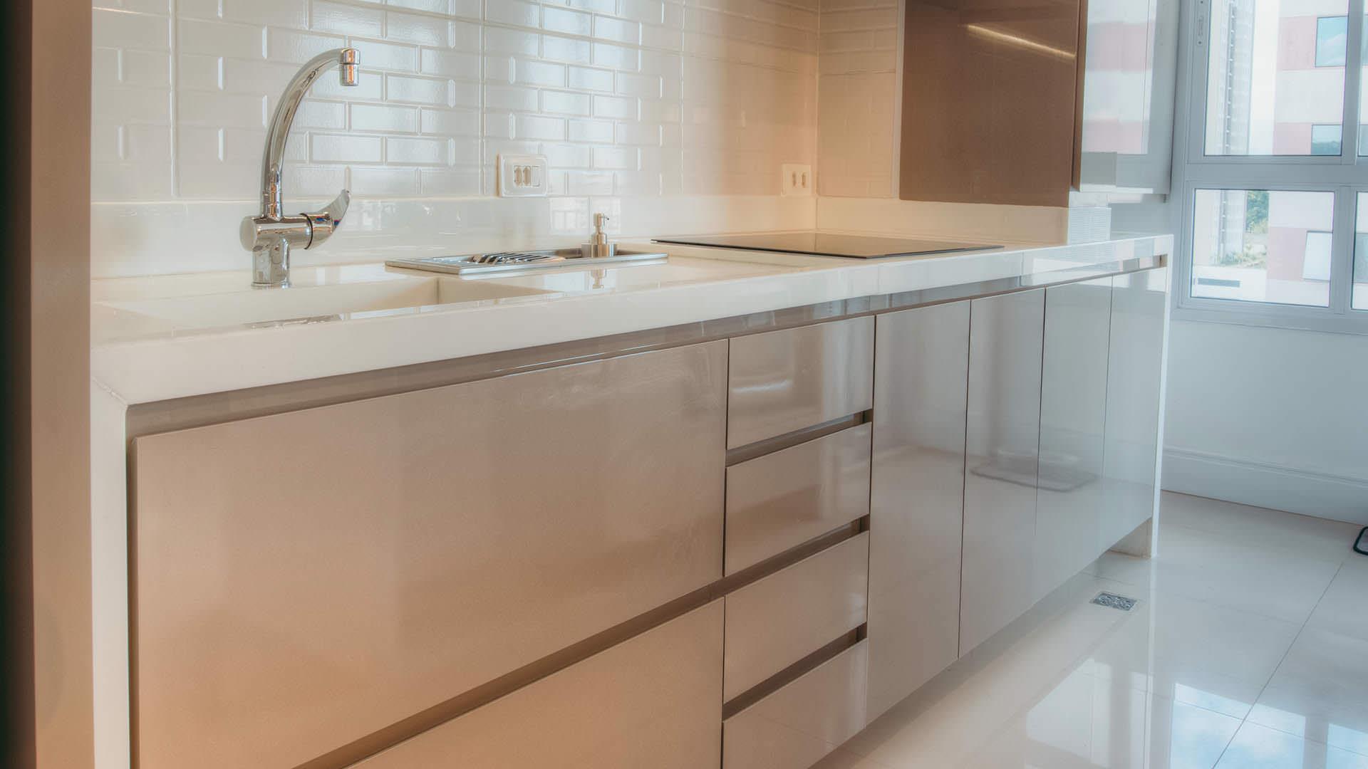 cozinha planejada linha cristallo da duratex cor gianduia